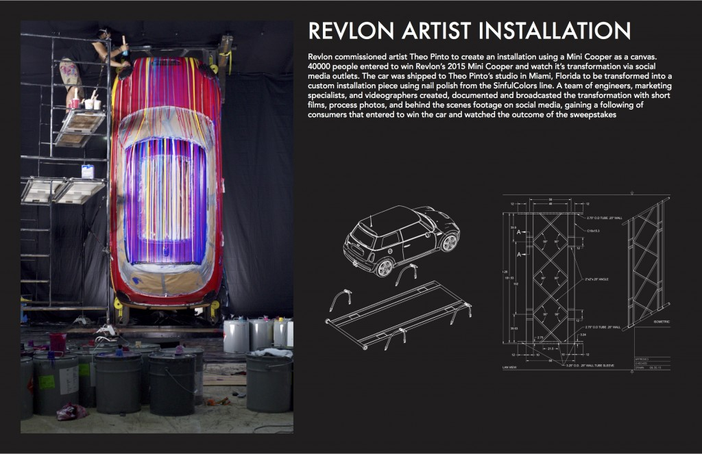 Revlon Artist Installation